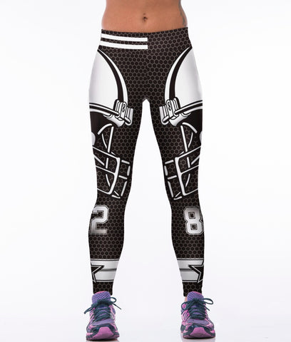 3D Printed Cowboys Leggings - Holiday Deal