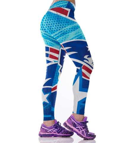 3D Printed Patriots Leggings - Holiday Deal