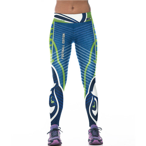 3D Printed Seahawks Leggings - Holiday Deal