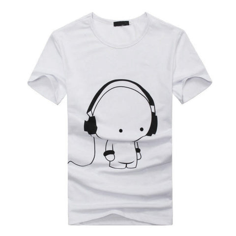 Mens Casual Short Sleeve 3D Anime Funny T-Shirt