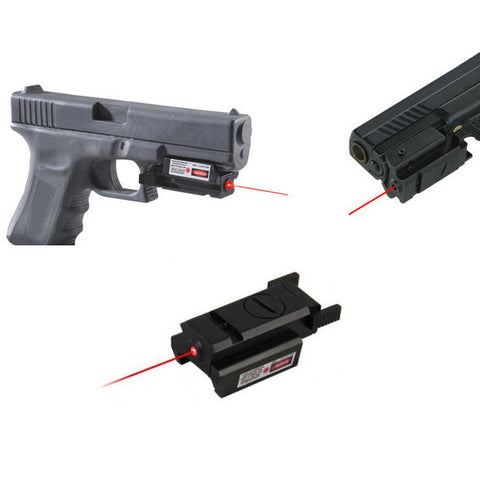 Tactical  Red Dot Laser Sight  with Picatinny Weaver Rail 22mm Mount For Glock 17 19 20 21 22 23 30 31 32