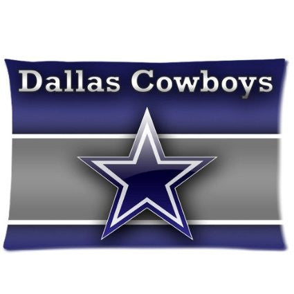 Dallas Cowboys Zippered Pillow Cover 20x30 Inch - 000543