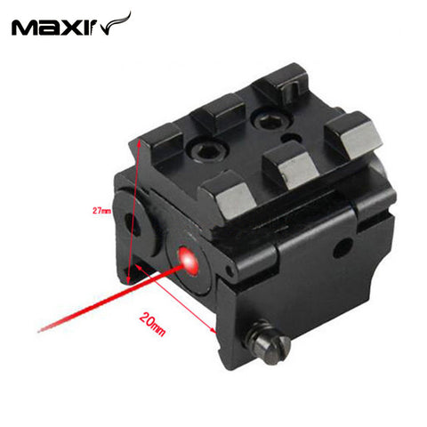 Mini Adjustable Compact Red Dot Laser Sight Fit  Glock 17/19 with 20 mm Rail Mount of Hunting Accessories