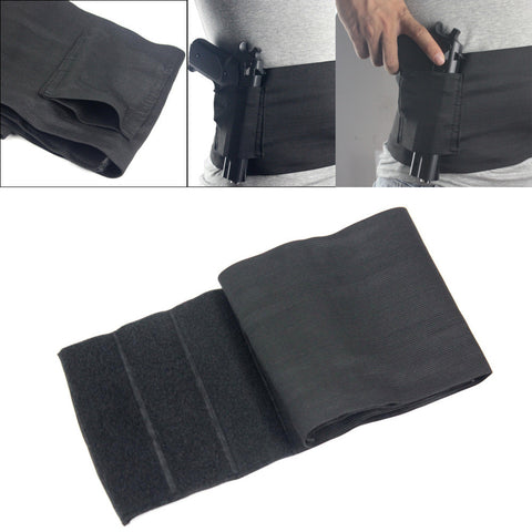 Tactical Elastic Waist Concealed Carry Holster Belly Band Pistol Gun Holster 2 Magzine Pouches Elastic For Glock 23 Sig 226