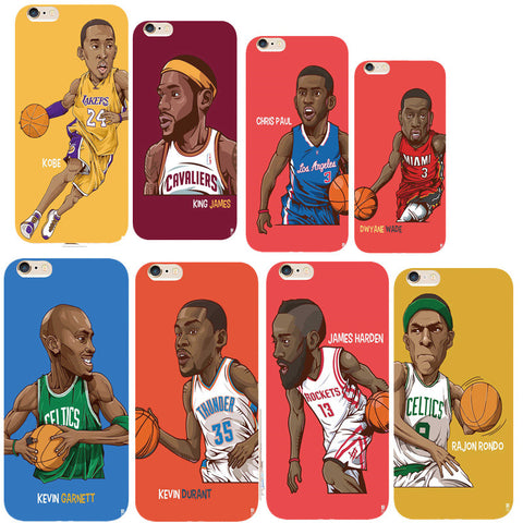 NBA Basketball Stars Phone Cover for iPhone6 6s 55s 7 PlusCase Silicone