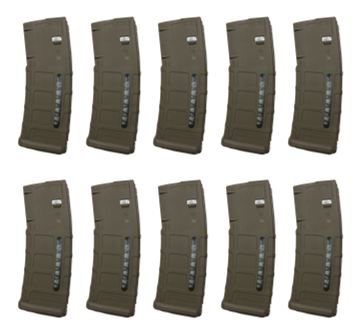 10 Pack Magpul PMAG M2 MOE 30RD Window Flat Dark Earth