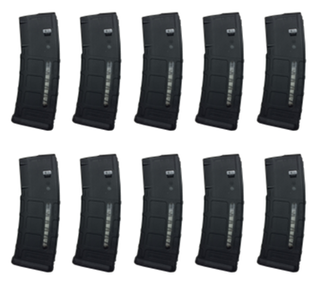 10 Pack Magpul PMAG M2 MOE 30RD Window Black