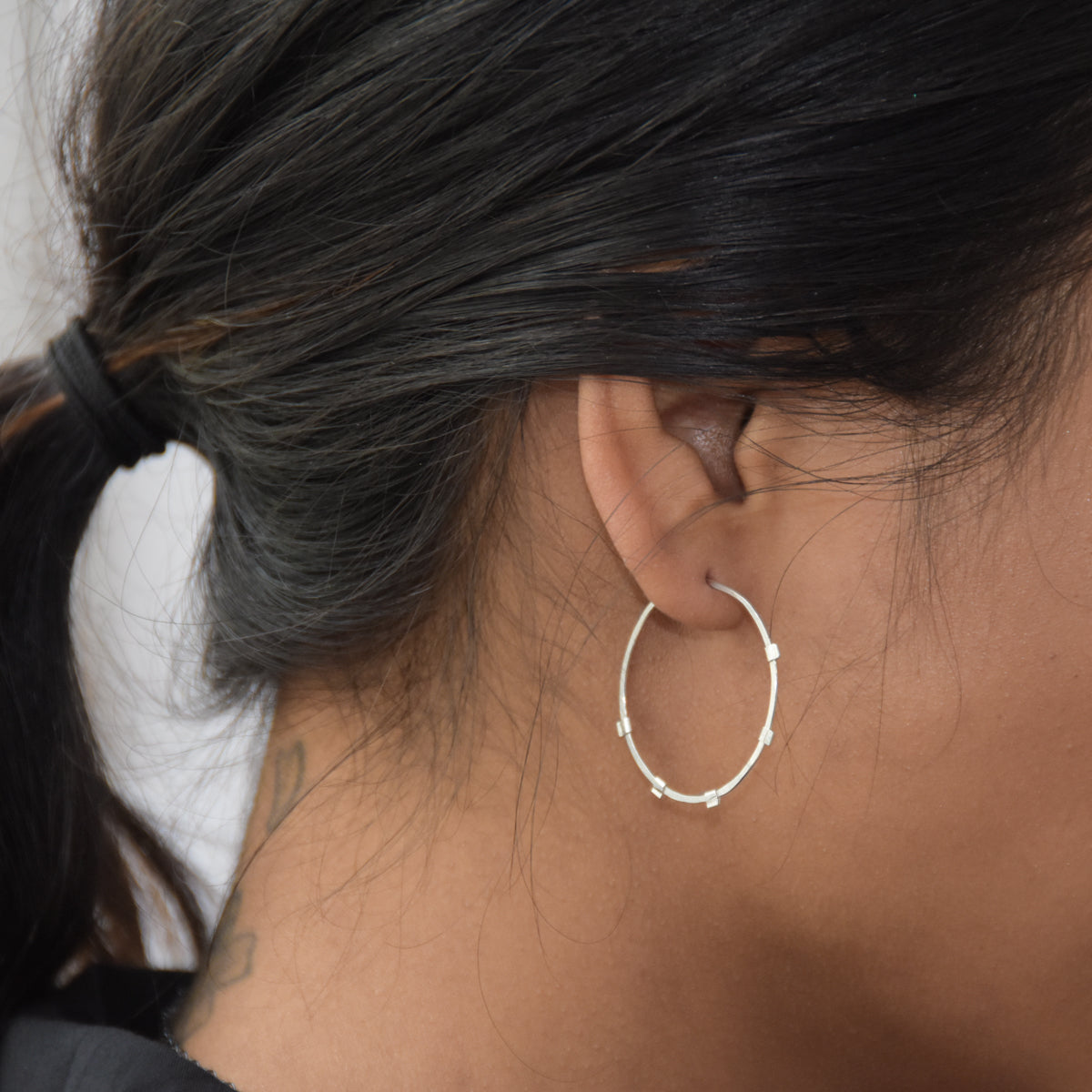 Sunburst Hoops - Sterling Silver