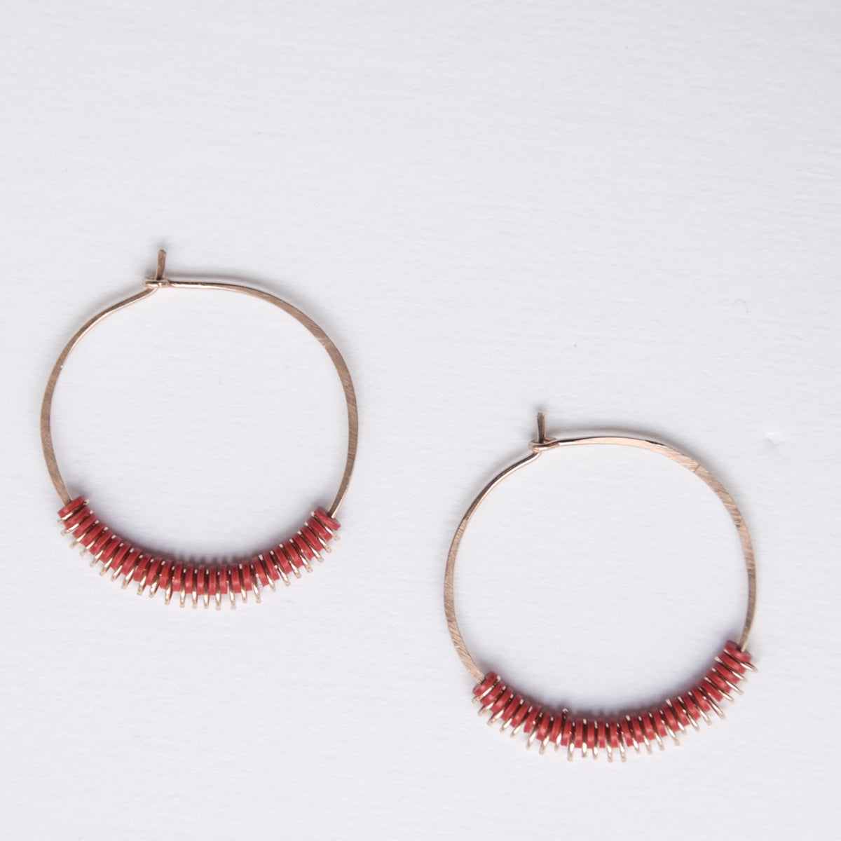 Aura Hoops 14K Pink Gold-Filled - Red