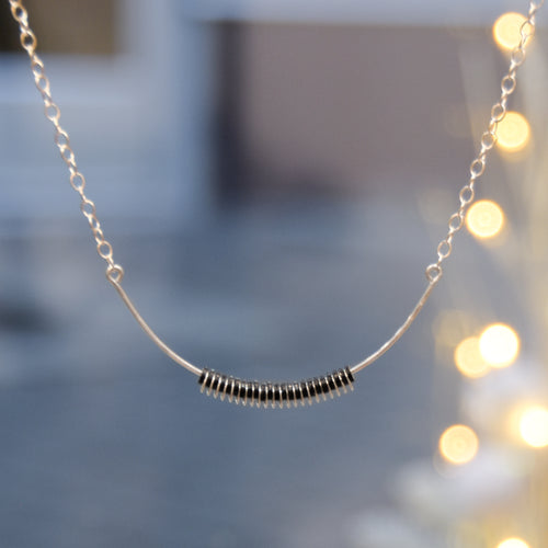 Aura Necklace Black - Sterling Silver or Gold-Filled
