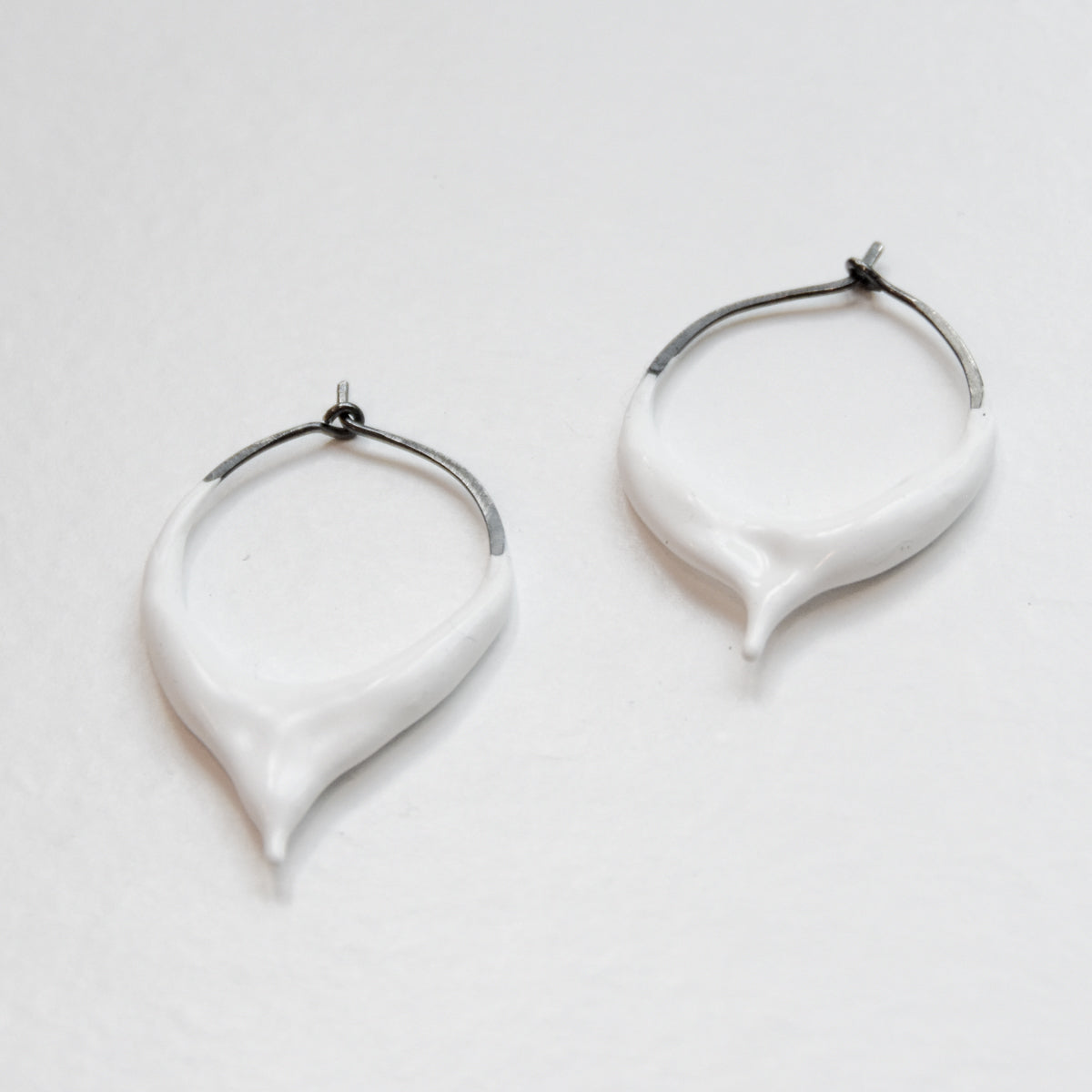 Super Drip - Oxidized Sterling Silver - Frothy White
