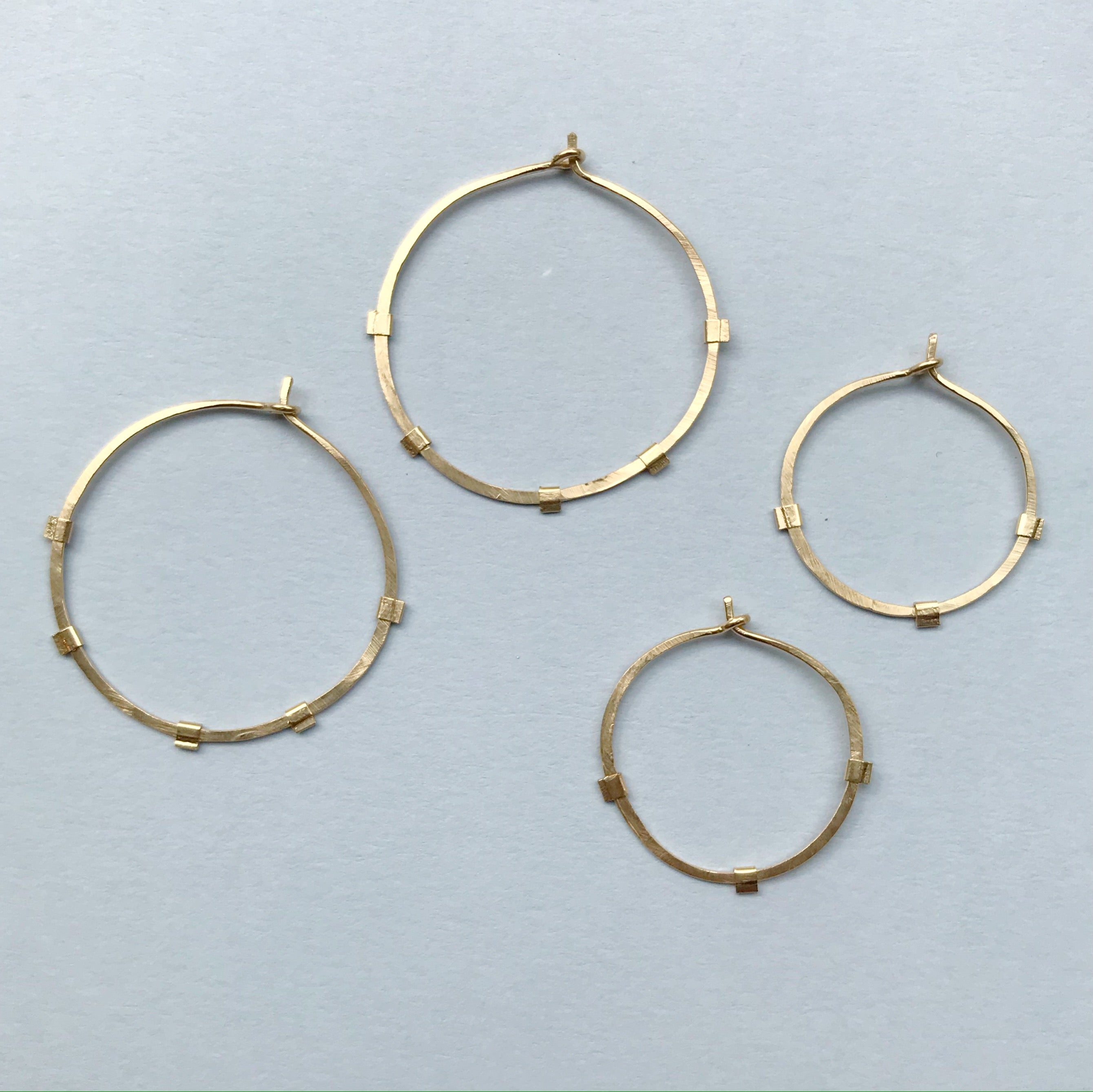 Sunburst Hoops - 14K Gold-Filled on Gold