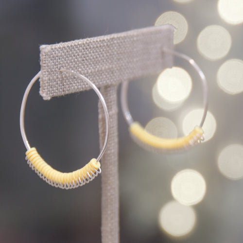 Aura Hoops - Butter - Sterling Silver