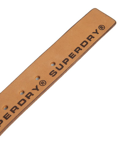 SUPERDRY Edge Logo Leather Belt