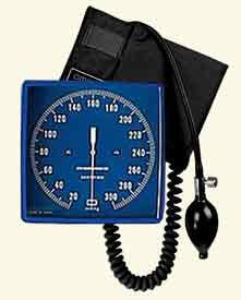 "Aneroid Blood Pressure, 6"" Square Wall Mount (Model 63257)"