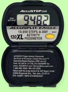 The Accusplit 10,000 Step Pedometer (Model 84118)