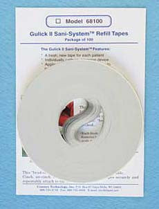 Gulick II Sani-System<sup>TM</sup> Refill Tapes (Pack of 100)
