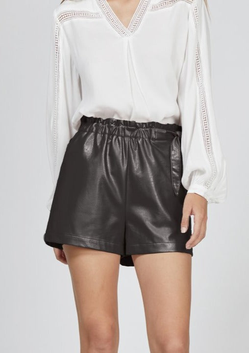 Gwen Vegan Leather Shorts - house of lolo