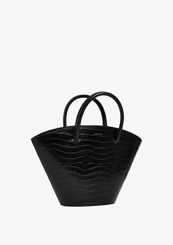 Mini Holland Bag - Black Croco - house of lolo