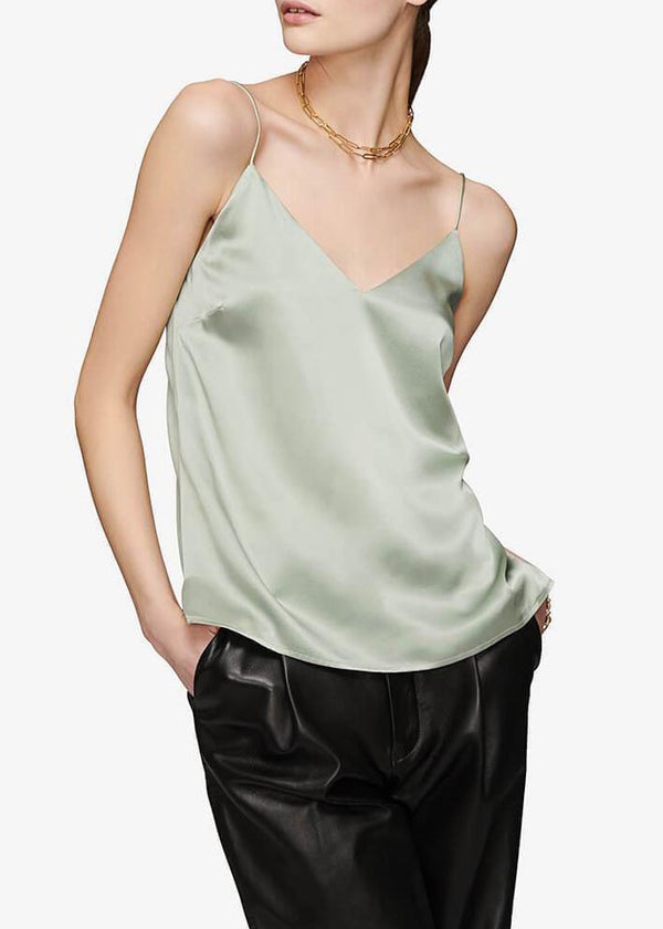 Gwyneth Silk Camisole - Dusty Mint - house of lolo
