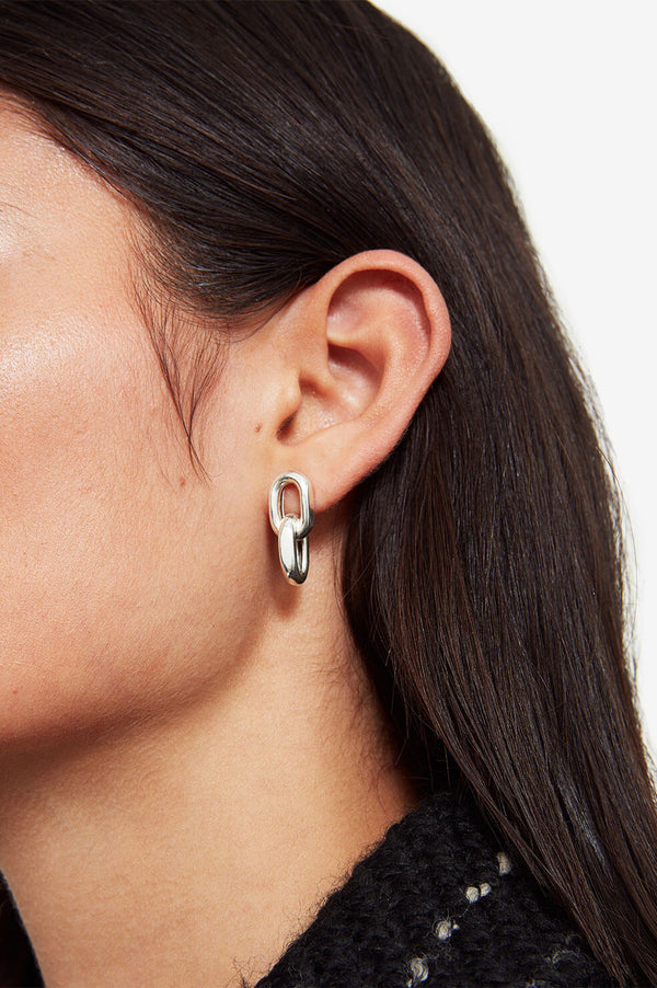 Link Drop Earrings - Silver - house of lolo