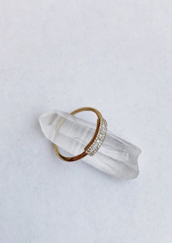 Baguette Petite Shield Ring - house of lolo