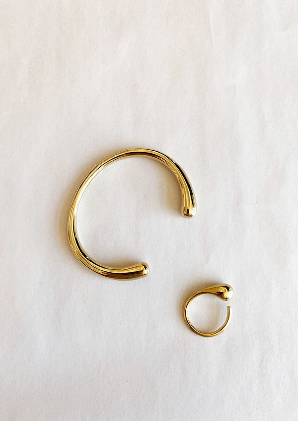 Dash Cuff Bracelet - Gold - house of lolo