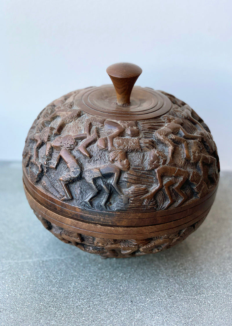 Hand-Carved African Vessel - house of lolo