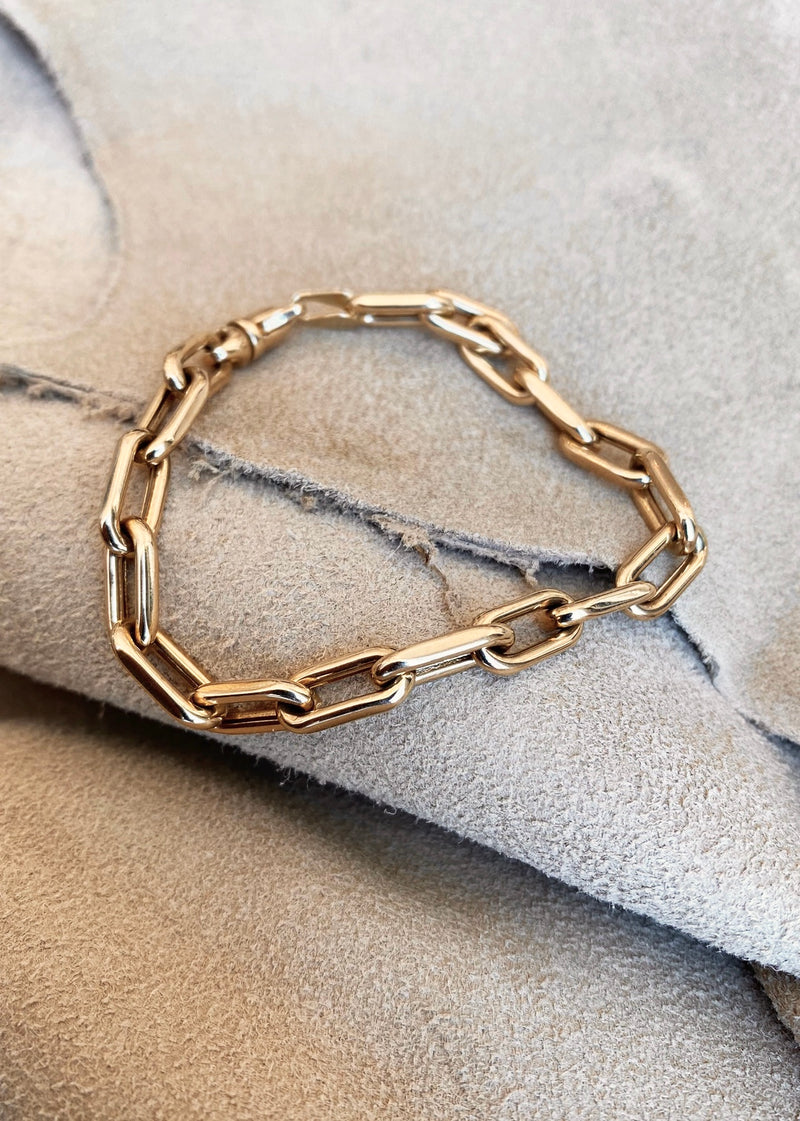Chain Link Bracelet 14k Gold - house of lolo