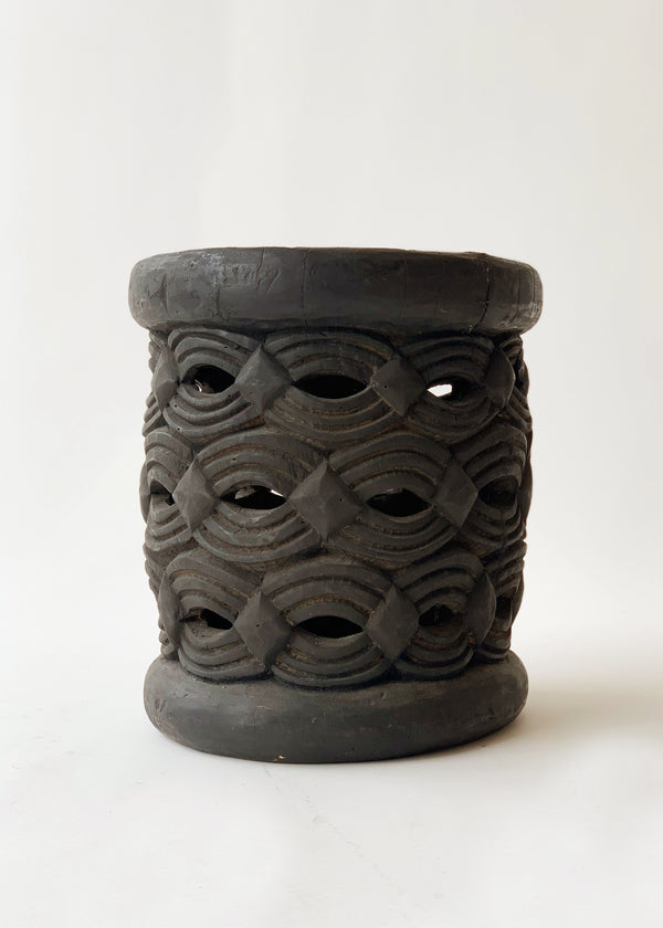 Vintage Hand-Carved Stool - house of lolo