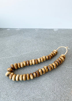 African Beads - Light Wood - house of lolo