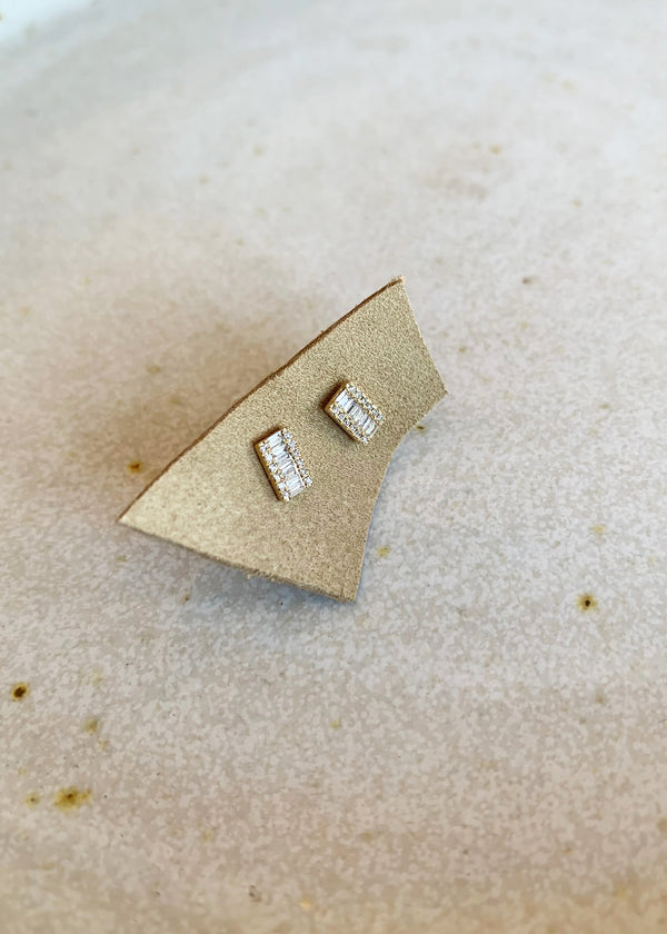 Baguette Block Studs - house of lolo