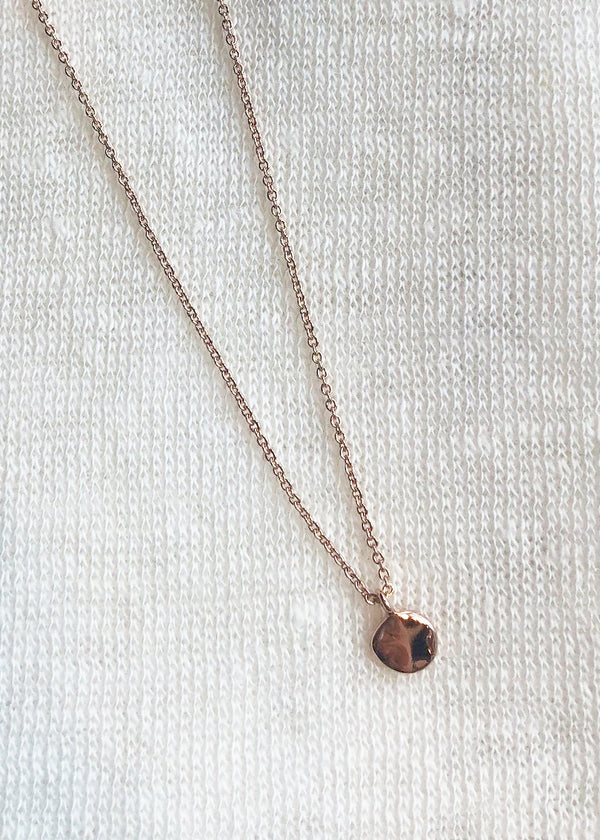Chloe Charm Adjustable Necklace - Rose Gold - house of lolo