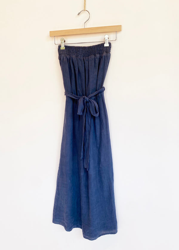 Strapless Linen Midi - house of lolo