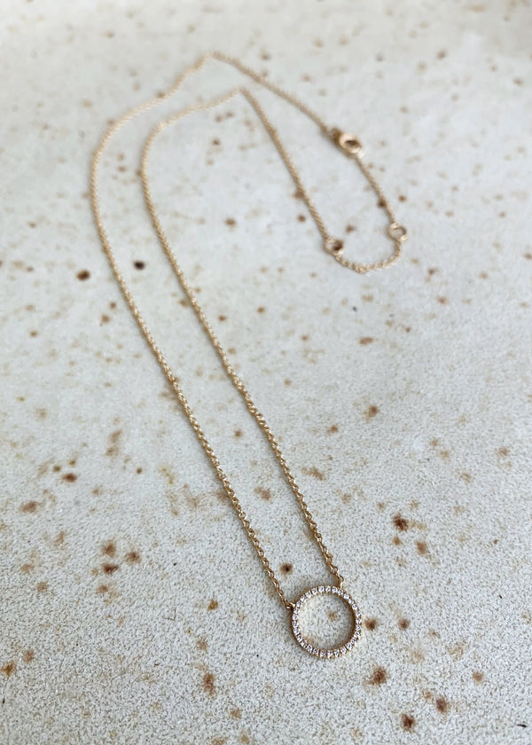 Mini Open Moon Necklace - house of lolo