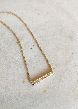 Petite Baguette Bar Necklace - house of lolo