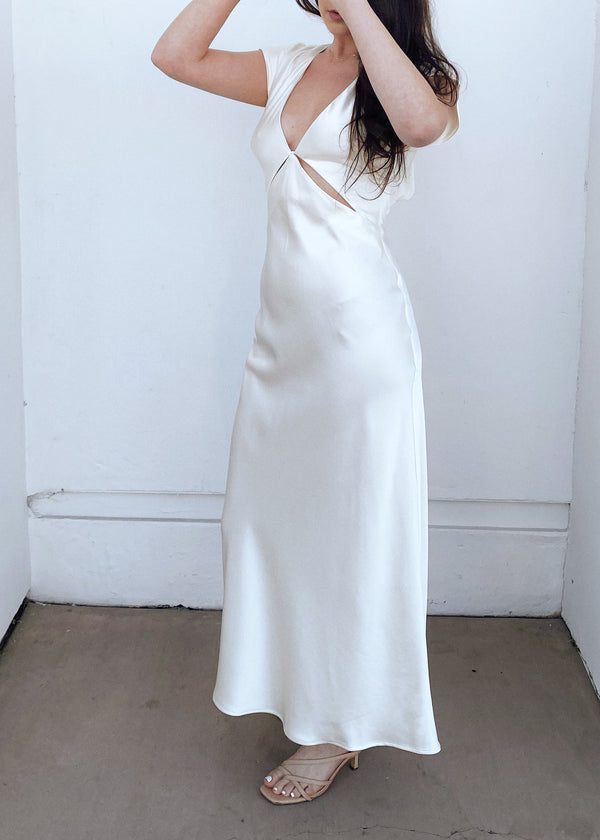 Ophelia Midi Dress - Ivory - house of lolo