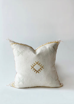 Cream Cactus Silk Pillow - house of lolo