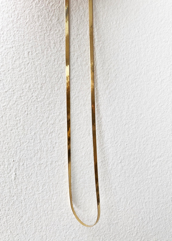 18K Gold Herringbone Chain - house of lolo