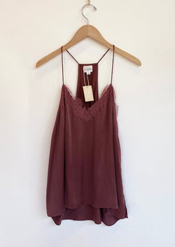 Racer Back Charmeuse Cami - Plum - house of lolo