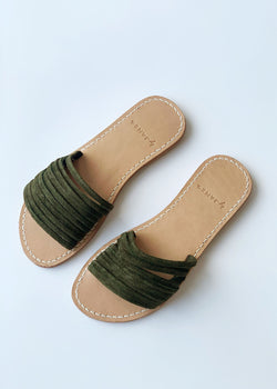 Olivia Sandals - Olive - house of lolo