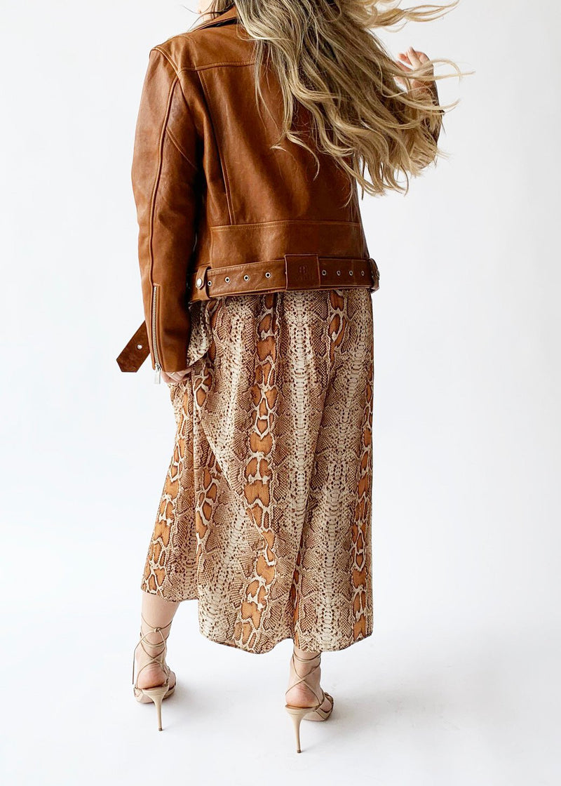 Benjamin Moto Jacket – Cognac - house of lolo
