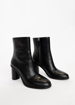 Mid Heel Bootie - Black - house of lolo
