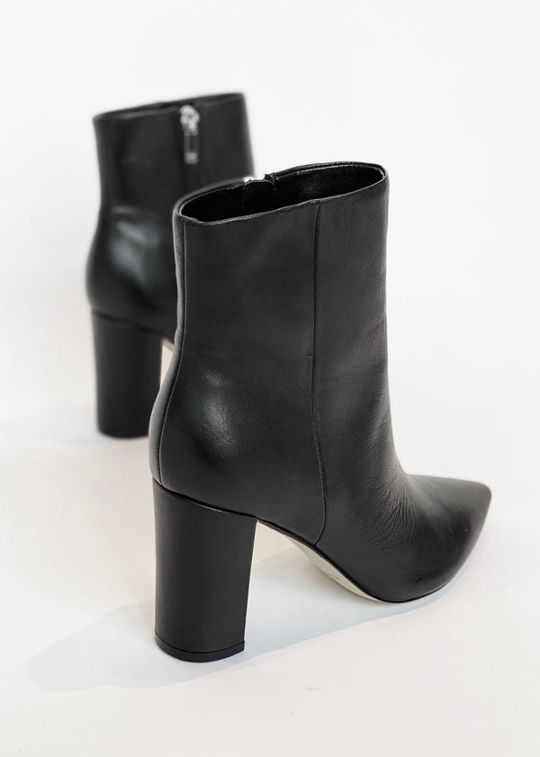 Classic Leather Heeled Boot - house of lolo