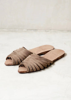 Lynne Sandals Nude Suede - house of lolo