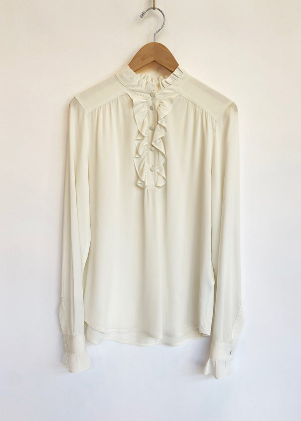 Silk Alba Frill Blouse - house of lolo