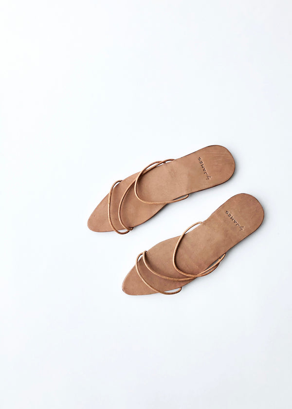 Anne Sandals - Nude - house of lolo