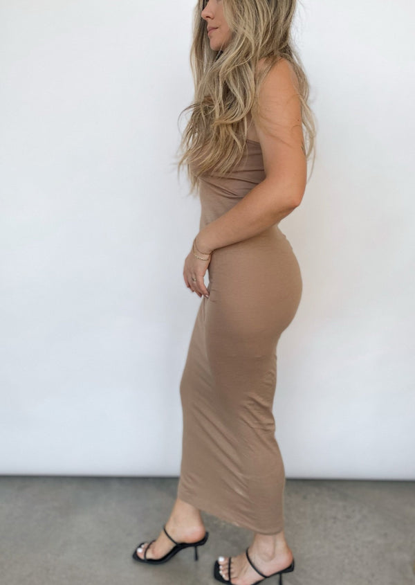 Racer Maxi Dress - Tan - house of lolo