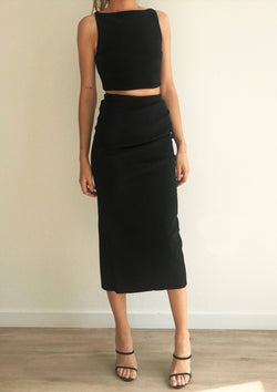 Raphaela Midi Skirt - house of lolo