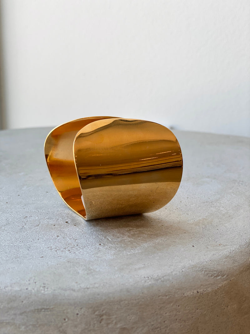 Organic Brass Flex Cuff - house of lolo